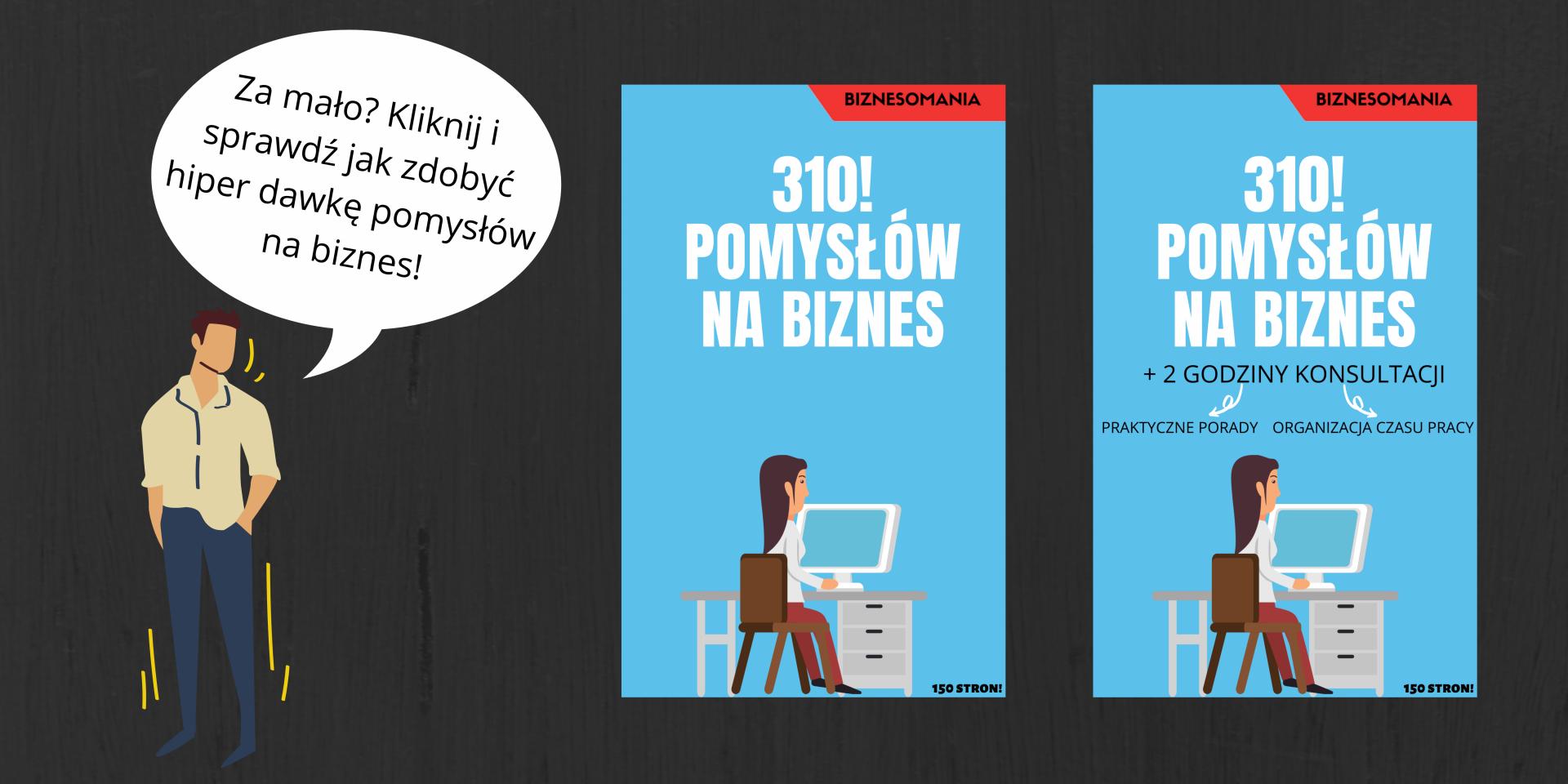 baner reklamujący ebooka 310 pomysłów na biznes