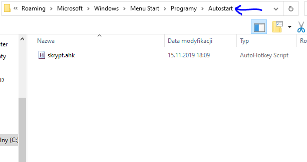 Microsoft Windows Menu Start Programy Autostart