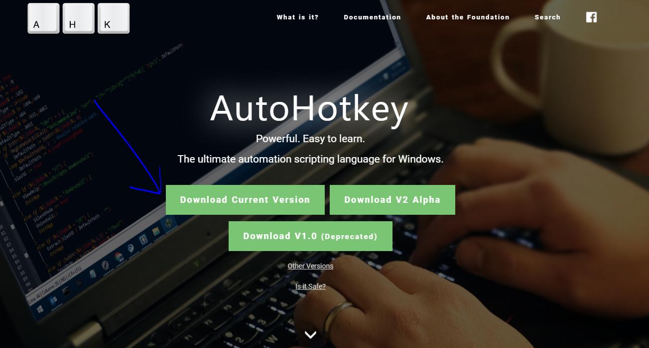 Pobieranie AutoHotkey skrypt