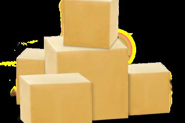 paczki w formie kartonów